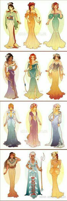 Pshhh like Merida would wear a dress like that