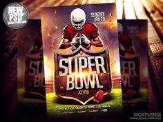 Super Bowl Flyer Template PSD by Industrykidz