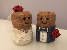 A bespoke order for a lovely bride-to-be and a new personal favourite. Order yours from my Etsy shop https://www.etsy.com/uk/listing/570959600/champagne-cork-wedding-cake-toppers