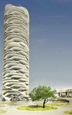 Gran Mediterraneo Tower, Tel Aviv, Israel / David Tajchman