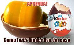 Como fazer Kinder Ovo em casa #receitas #homemade #caseiro #kinderovo #kinder #comofazer #doces #natal #bomdia