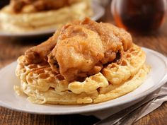 Chicken and waffles history.  Comfort food. Yum!