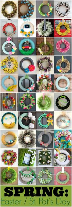 so.many.wreaths. this site links to other blogs with wreath tutorials