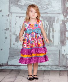 Another great find on #zulily! Purple & Blue Violet Sophia Dress - Infant & Girls by Jelly the Pug #zulilyfinds