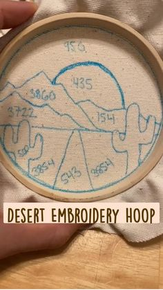 Cute Crafts, Crafts To Do, Yarn Crafts, Fabric Crafts, Sewing Crafts, Sewing Projects, Diy Embroidery Patterns, Simple Embroidery, Embroidery Hoop Art