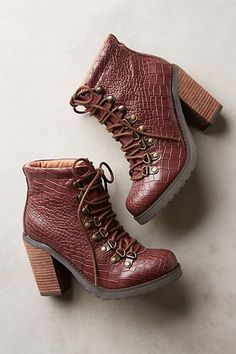 Soles Future Told Mustang Booties Wine Fab Shoes, Pretty Shoes, Sock Shoes, Me Too Shoes, Shoe Boots, Ankle Boots, Ruby Red Slippers, Boot Shop, Leather Boots