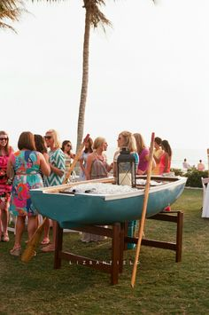 Every sunset beach side bash deserves a beer boat