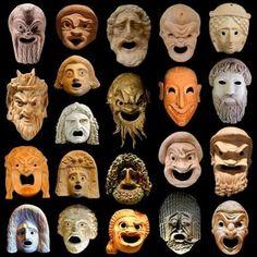 Mascaras do teatro grego #StatuesGrega