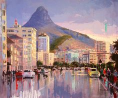 Illustration Art, Illustrations, Cape Town, Artsy, Street, Artwork, Buildings, Painting, Cafes