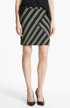 Ella Moss 'Tabitha' Stripe Jersey Skirt available at #Nordstrom