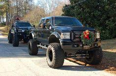 Big trucks ; Big tirrres <3  Country christmas
