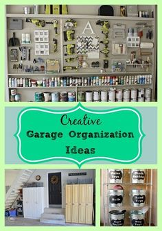 Easy Garage Organization ideas that you can do to get that garage cleaned up and looking good!