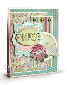 Birthday card by Christyne Kane using On Occasion from Verve Stamps #vervestamps