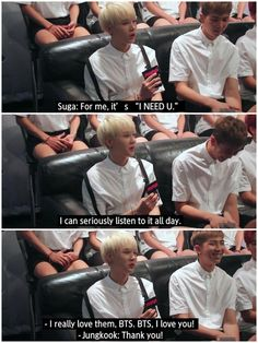 Stans BTS like how they stan themselves XD