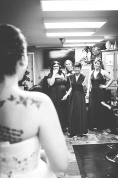 wedding photography. Love the idea of getting the bridesmaids' reaction.