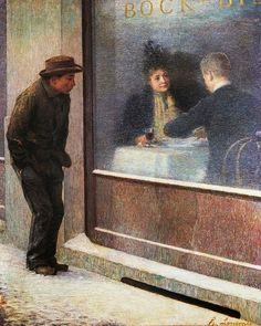 "amare-habeo: "" Emilio Longoni (Italian, 1859 – Reflections of a Hungry Man or Social Contrasts, 1894 Oil on canvas "" True Detective Season, Oil On Canvas, Canvas Art, Georges Seurat, Italian Painters, Art Nouveau, Beautiful Paintings, Figurative Art, Art History"
