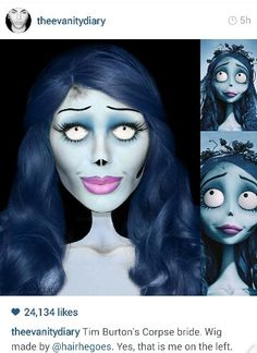 Tim Burton Corpse Bride Makeup