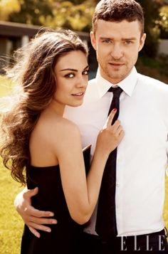 Justin Timberlake and Mila Kunis for Elle Magazine (pose idea)