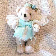 Plush Tan Dressy Holiday Bear circa 1980s