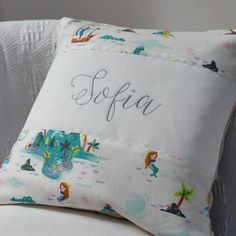 Peter Pan Mermaid Lagoon Cushion Little Girl Gifts, Baby Girl Gifts, New Baby Gifts, Little Girls, Peter Pan Story Book, Peter Pan Mermaids, Childrens Cushions, Unique Gifts, Best Gifts