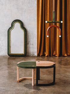 Suspension TRN light C2 en céramique et laiton par Magda Jurek Home Furniture, Furniture Design, Ceramic Light, Luminaire Design, 2020 Design, Vintage Design, Wooden Blocks, Glazed Ceramic, Ceiling Lamp