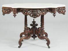 Lot 485: Marble Top Center Table att. Meeks