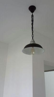 Steel Ceiling Lamp  pendant lamp  edison bulb  by LightwithShade