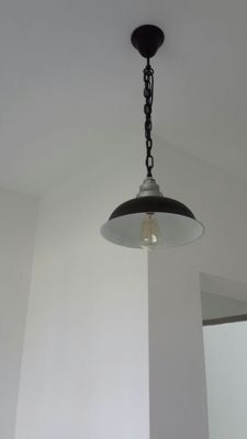 Steel Ceiling Lamp  pendant lamp  edison bulb  by LightwithShade
