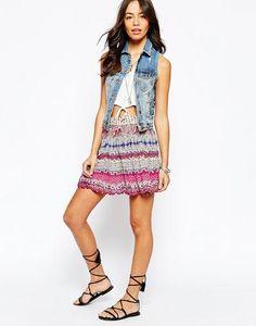 New Look Paisley Print Skater Skirt at asos.com #skaterskirt #offduty #women #covetme