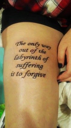 Life Quotes Tattoos On Side