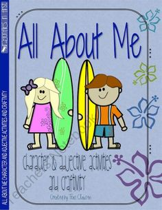 Surfer Kids All About Me Adjective and Responsibility Activities and Craftivity product from DragonfliesinFirst on TeachersNotebook.com