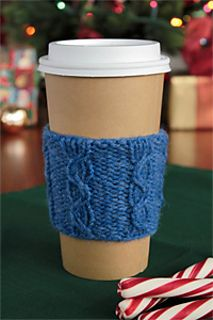 To-Go Coffee Cup Cozy Knitting Pattern by Christine Marie Chen Published in Love of Knitting Website
