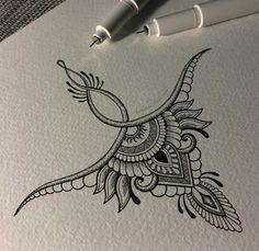 High back tattoo – nape Mandala Tattoo – Fashion Tattoos Tattoo Drawings, Body Art Tattoos, New Tattoos, Small Tattoos, Future Tattoos, Tattoo Sketches, Henna Designs, Tattoo Designs, Underboob Tattoo