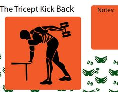 "Check out new work on my @Behance portfolio: ""The tricep kick back workout page from icon book."" http://on.be.net/1UHvlAU"