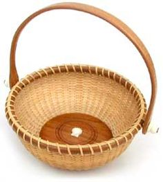 A Nantucket basket for jewelry.  Mom, this is a neat idea...maybe you could make little jewelry catch all baskets!