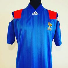 1992-94 France shirt M 49.99 - class  shirt from @classic_eleven_united get yours now #france footballshirtcollective #adidas