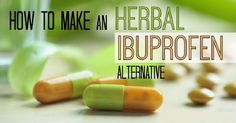 Make Your Own Ibuprofen Alternative. Herbal Anti-Inflammatory Capsules - Expand your Consciousness