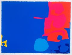 Interlocking Pink and Vermilion with Blue Abstract Painters, Abstract Landscape, Abstract Art, Patrick Heron, Modern Art, Contemporary Art, Male Artists, Screenprinting, Inspiring Art