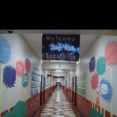 Our hallway for Dr.Seuss!