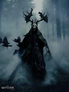 Leshen – The Witcher fan art by Ivan Roujev Monster Concept Art, Fantasy Monster, Monster Art, Dark Creatures, Mythical Creatures Art, Fantasy Creatures, Arte Horror, Horror Art, Dark Fantasy Art