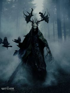 Leshen – The Witcher fan art by Ivan Roujev Fantasy Concept Art, Fantasy Character Design, Dark Fantasy Art, Fantasy Artwork, Character Art, Monster Concept Art, Fantasy Monster, Monster Art, Dark Creatures