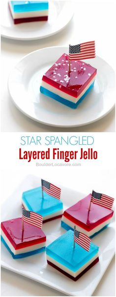 Finger Jello). A fun layered treat perfect for any patriotic holiday ...