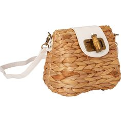 Sun 'N' Sand Natural Straw Mini Crossbody - Tan - Crossbody Bags ($38) ❤ liked on Polyvore featuring bags, handbags, shoulder bags, mini cross body purse, beige shoulder bag, mini crossbody handbags, tan shoulder bag and cross-body handbag