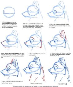 Drawing a Cartoon Wolf - Art how to draw a wolf - Drawing Tips Drawing Techniques, Drawing Tips, Drawing Reference, Drawing Sketches, Painting & Drawing, Drawing Ideas, Sketching, Learn Drawing, Figure Drawing