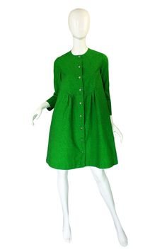 1960s Green Baby Doll Marrimekko Dress