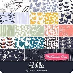 b1e0ef0a485c51 Lilla Fat Quarter Bundle Lotta Jonsdotter for Windham Fabrics - Fat Quarter  Bundles