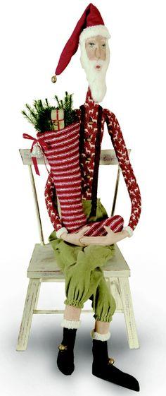 Skinny Santa | Sleepy Time Santa | Joe Spencer Gathered Traditions Christmas Collection