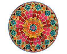 Mandala Print  Painting  RW NotreDame Paris  by skookumslabber, $25.00