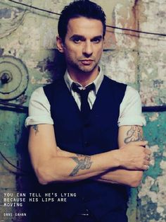 Dave Gahan by Steven Klein for Johan Lindeberg campaign 2006.