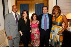 """(L-R) Writer #WesMoore, actress #TinaFey, Naila Bolus, CEO of #Jumpstart, Chris Stadler, chair of national board for Jumpstart, and #GayleKing, co-anchor of CBS This Morning and editor-at-large for O, The Oprah Magazine attend Jumpstart's Annual """"Scribbles To Novels"""" Gala at Cipriani Wall Street on May 8, 2012 in New York City."""